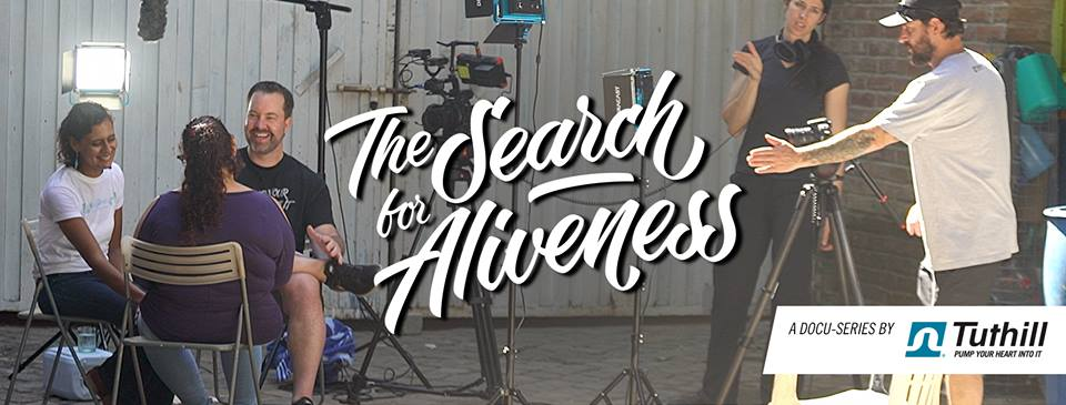 Search for Aliveness - action shot