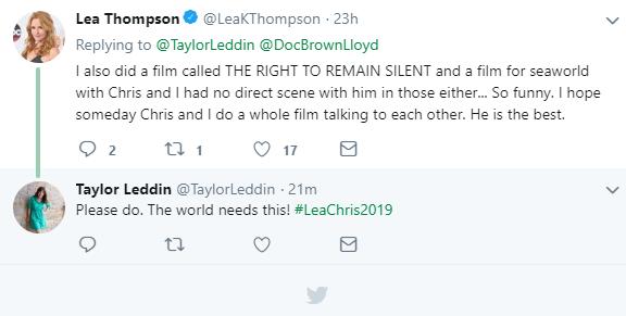 lea thompson tweet